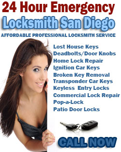 24 Hour Emergency Locksmith Servce San Diego