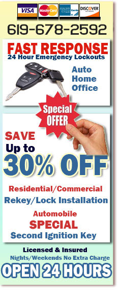 24 Hour Professional Locksmith San Diego